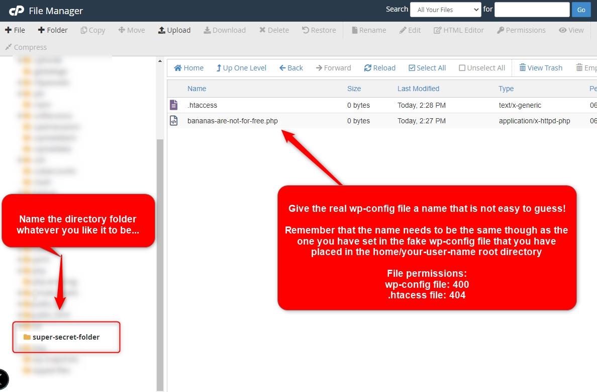 C-Panel File Mananger WordPress configuration file wp-config.php | Simple URL Shortener SEO forums
